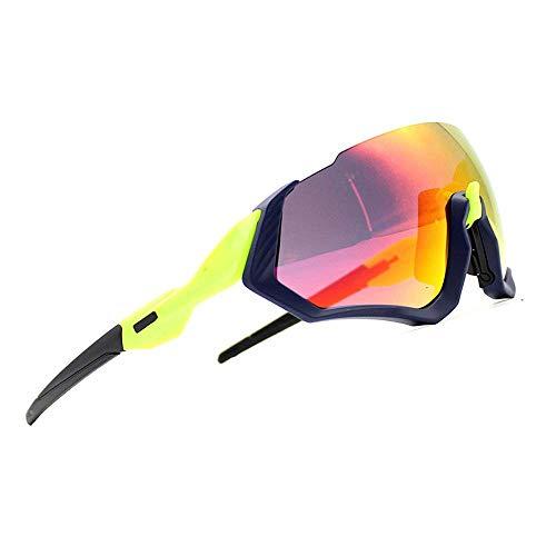 ZoliTime 2018 Nuovi Occhiali da Sole Ciclismo Kit 3LS Revo + polarizzati + Trasparenti (Verde)