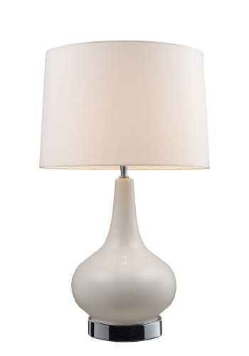 Hot Sale Dimond 3935/1 27-Inch Tall 1-Light Table Lamp, White and Chrome Finish
