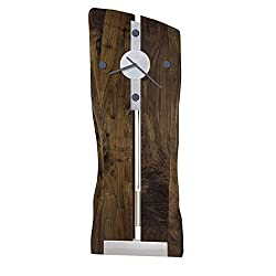 Howard Miller Enzo Wall Clock 620-508 – Natural Distressed Walnut with Quartz Movement