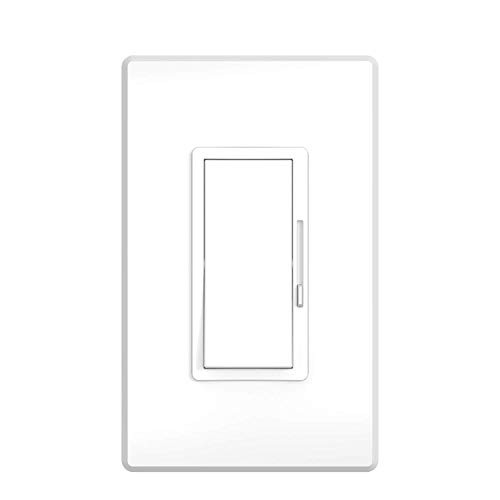 LB17020 LED Dimmer Switch - On/Off Wall Dimmer Switch with Dimmable Slide, for LED/CFL/Incandescent/Halogen Bulbs - 3 Way Single Pole, 600W max, Cover Plate Included