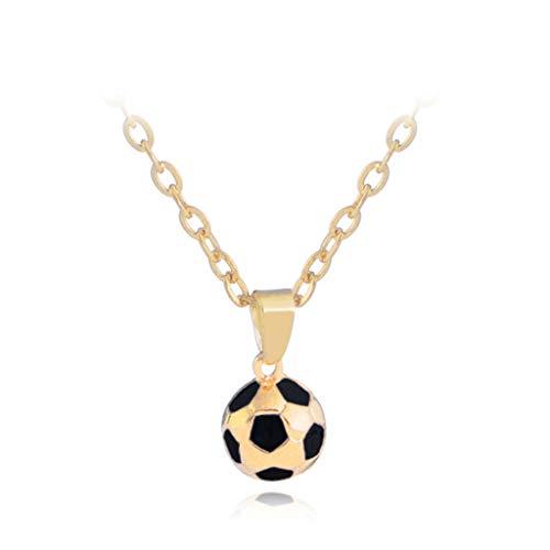 Sweet Kette Herren, Halskette Mit Fußball Anhänger, Personalisierter Modeschmuck Für Männer Zum Geburtstag Valentinstag,Gold