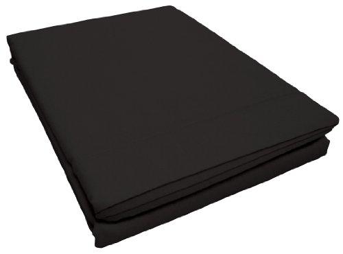 Douceur d'Intérieur - 1640600, Bettlake Fur Doppelbette, 240 X 300 cm, Lit Uni, Unifarben 57 Fäden, Schwarz