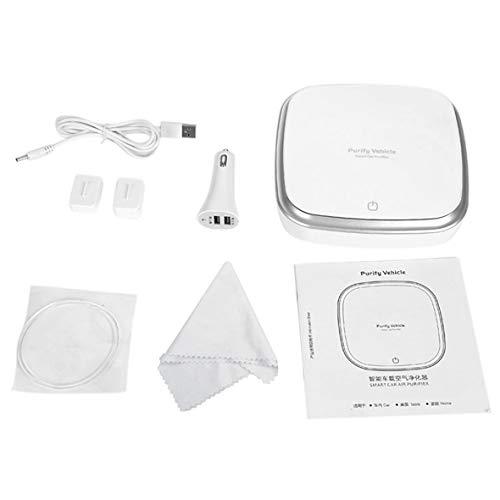 Tivolii Purificador de Aire del Coche Smart Touch Ionizer Anion Purificador de Aire del Coche Removedor de Polvo de Humo USB portátil...