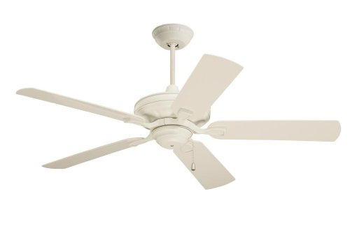 Emerson Ceiling Fans CF552AW Veranda Indoor Outdoor Ceiling Fan, 52-Inch Blade Span, Summer White Ceiling Fan with All-Weather Summer White Blades