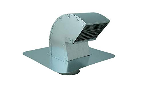 Goose Neck Exhaust Roof Vent (with Extension, 8 Inch)