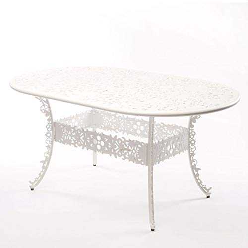 Table Aluminium Industry Collection 152X90 H.74 - Blanc
