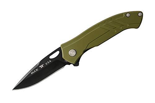 BUCK Couteau Momentum n° 0294GRS, Vert, 12 cm