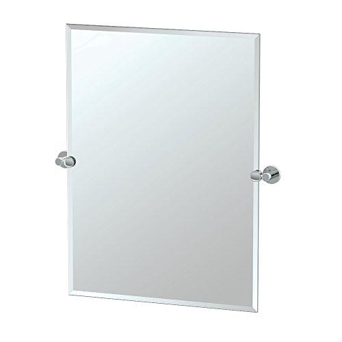Gatco 4689S Channel Rectangle Mirror Chrome, 31.5 H x 28 -