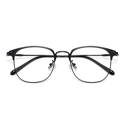 Brillen Blaulichtfilter, Ultraleichte Und Komfortable Reinem Titan,Strahlenschutzbrille,Mode Einfache Unisex,Anti-Blaues Licht Strahlenschutzcomputer Schutzbrille (Color : A)