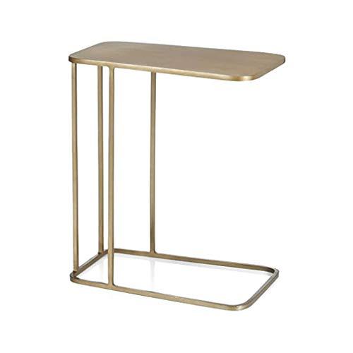 JYQ-SZRQ Tavolino Laterale da Divano Moderno tavolino Minimalista Tavolino Laterale Tavolino Laterale in Ferro battuto Tavolino Basso Quadrato Europeo