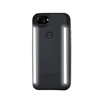 LuMee Duo Phone Case Black Matte | Front & Back LED Lighting Variable Dimmer | Shock Absorption Bumper Case Selfie Phone Case | iPhone 8+ / iPhone 7+ / iPhone 6s+ / iPhone 6+