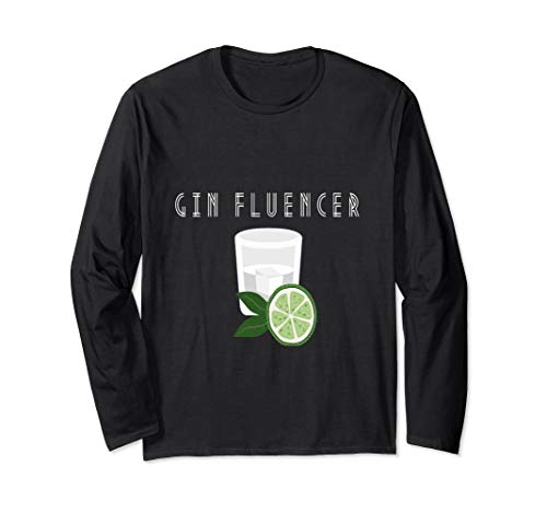 Gin lover  Ginfluencer Cocktail Gin Tonic Wacholder Schnaps Langarmshirt
