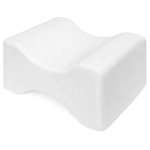 Best Choice Products Orthopedic Memory Foam Knee Pillow w/Ergonomic Contour Design for Sciatic, Back, Leg, Joints