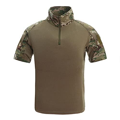 Camisetas tácticas para hombre de verano de manga corta Airsoft Ejército de rendimiento Tops ropa militar