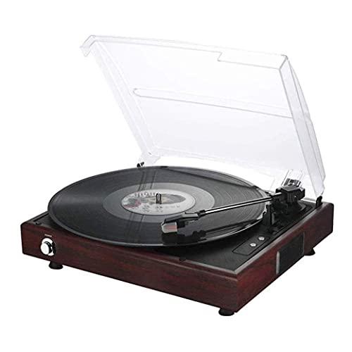 Carillon Giradischi in vinile retrò Giradischi antico Giradischi ad alta fedeltà Audio Technica, giradischi a 3 velocità, preamplificatore integrato, contrappeso regolabile per l'intrattenimento