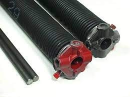 Purchase Garage Door Torsion Springs Pair .207 x 2 1/4' Spring Length: 22 1/2', with Winding Rods, C...