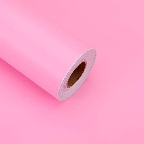 Papel Pintado Papel Pintado de PVC de Color Sólido Papel Pintado Autoadhesivo Monocromático Pegar Directamente Pasillo de Renovación de Muebles para Dormitorio