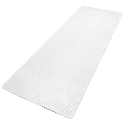 adidas Esterilla de Yoga Premium-5mm-Blanco, Unisex-Adult, Blanco