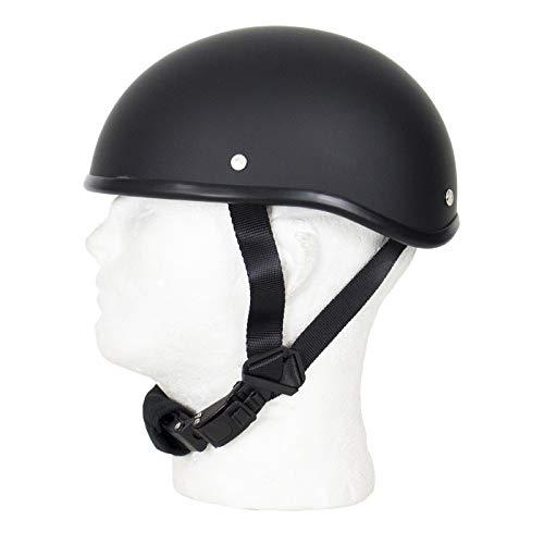 MONACO TRADERS SOA Beanie Novelty Flat Black Motorcycle Half Helmet Cruiser Biker S,M,L,XL,XXL (XL, Flat Black)