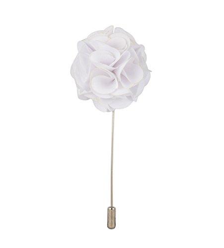 Knighthood Weißer Blumenstrauß Revers Pin Brosche für Männer Reversnadel/Lapel Pin/Anzug/Sakko
