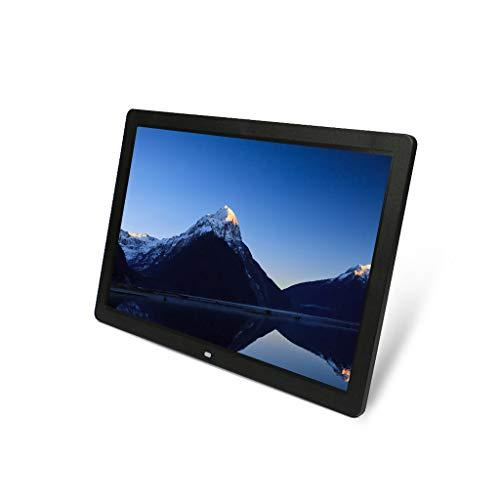 Photo Frame Digitaler Bilderrahmen 17-Zoll-High-Definition-Breitbild-Werbemaschine unterstützt 1080P-Video-HDMI-Eingang Wandkalender Wecker automatische EIN- / Ausschalter