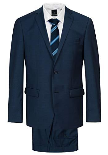Daniel Hechter - Modern Fit - Herren Baukasten Anzug aus Reiner Schurwolle in blau oder schwarz, meliert (7993), Größe:24, Farbe:Blau (62)