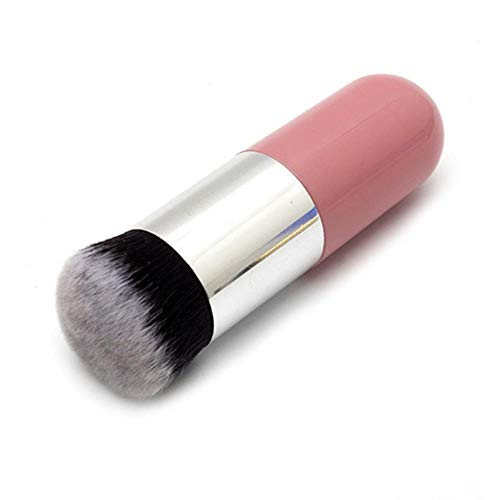 Pinceaux de maquillage Foundation Brush F Blending Makeup Brushes Concealer Powder Brush 6 Colors, 04 Pink Silver