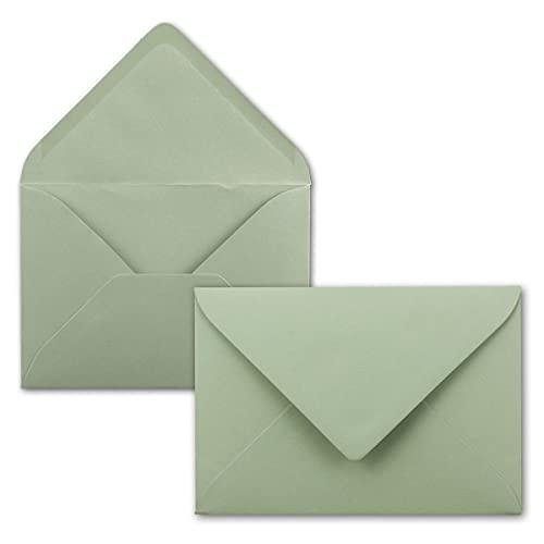 FarbenFroh - Sobres (75 unidades, formato DIN C5, 22 x 15,4 cm, cierre sin ventana), color verde