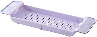 収納プラスチックタブバスタブ収納ラックBPAフリー多機能オーガナイザーバスタブシェルフキャディトレイブックワインフォンバスルームシャワー拡張可能なバステーブルシェルフはあらゆるサイズのTに適合