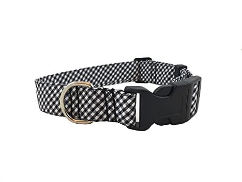 Izala Dog Couture Conjunto para Perro - Cuadro Vichy Negro y Blanco