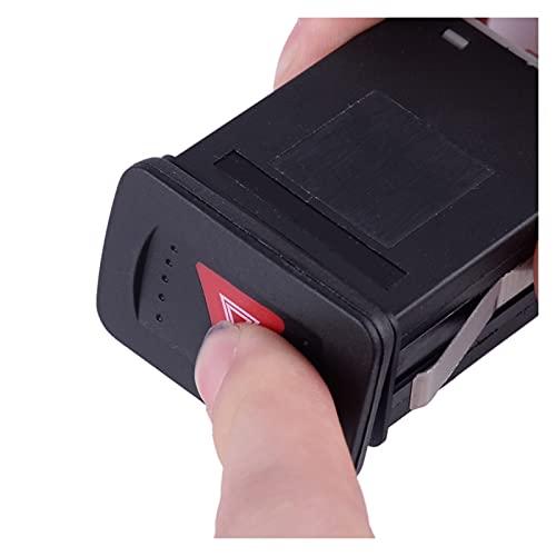 ZHANGJIN Interruptor de indicador de Advertencia de Emergencia Negro 1J0953235C 1J0953235E 1J0953235J Ajuste para VW Volkswagen Golf Jetta