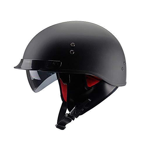 Motorradhelm DOT/ECE-Zertifizierte Einbaubrille Unisex Offener Tragbarer Jet-Helm Roller Roller Fahrradhelm Roller-Helm