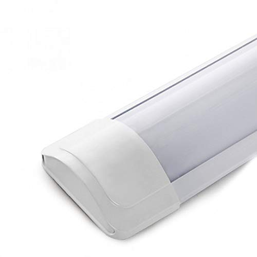 Greenice | Luminaria LED Lineal Superficie 1200Mm 40W 3600Lm 30.000H SL-LIL-CWP200H40-W | Barra LED | Fluorescente LED | Ideal para Pasillo, Salon, Cocina y Dormitorio | Blanco Frío