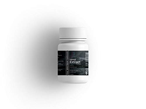 Full Spectrum Raw Hemp Capsules | 30 Capsules | 50mg per Capsule | Quick Relief from Stress, Anxiety and Pain |