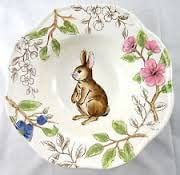 Indefinitely Maxcera Festive Rabbit Easter Round Bowl Serving Cheap mail order sales 10