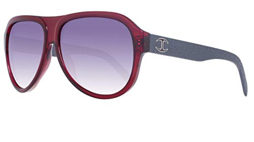 Just Cavalli JC598S 6166B Sunglasses JC598S 66B 61 Aviator Sonnenbrille 61, Rot