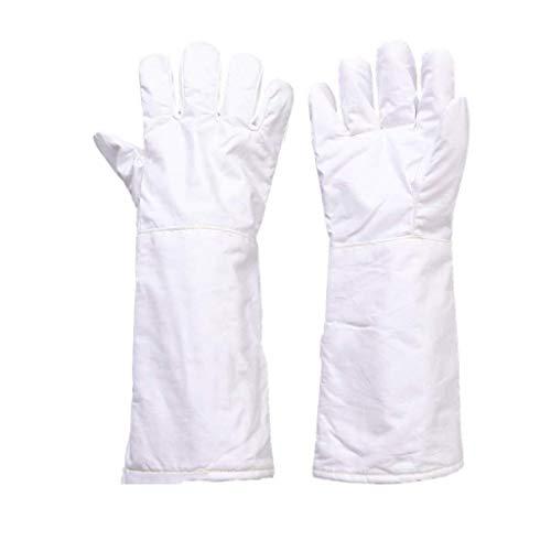 XWYST Arbeits Versicherung Arbeitshandschuhe 180 Grad staubfreie Hochtemperatur-Handschuhe Isolierte rutschfeste Verschleißfeste Handschuhe Aramid Material, Geeignet for Reinraum (Größe, 26cm), 26cm