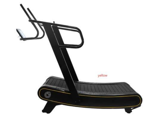 Gebogenes Laufband, 30 % mehr Kalorienverbrennung, nicht motorisiert, 0–25 km/h, Cardio, HIIT, Schlitten, 3 Widerstandsstufen