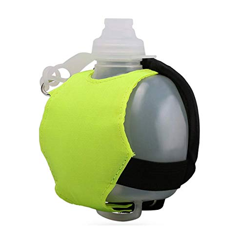 SOYAR Ligero y Duradero Running Botella de Agua, Encaja Para Ciclismo, Caminar, Correr, Deportes, Ocio y Todas las Actividades al Aire Libre (Verde Fluorescente)