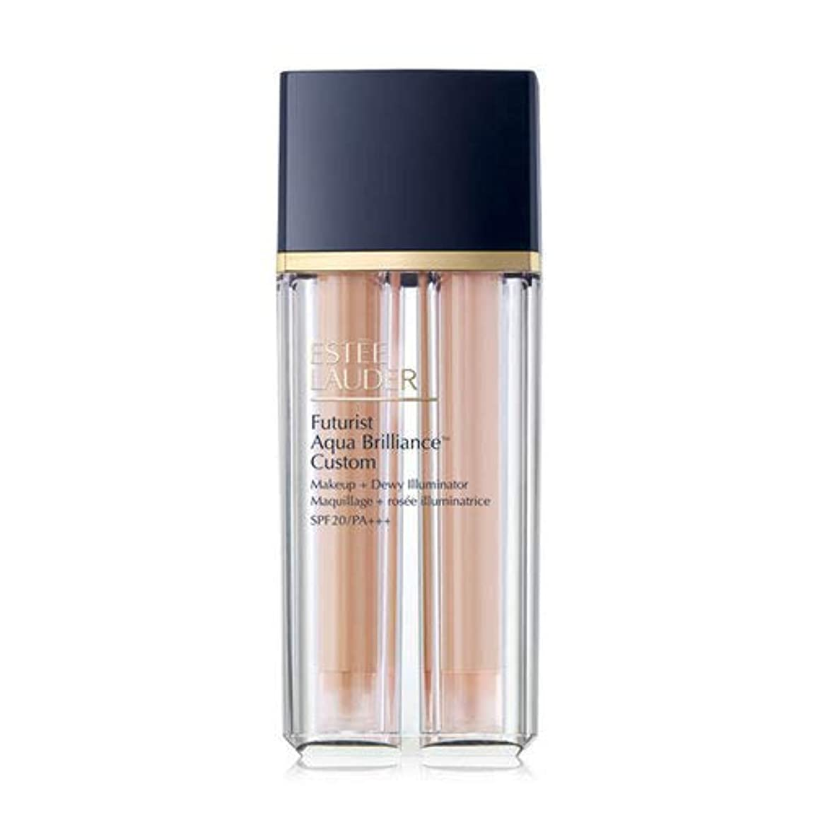 令状盗難操るEstee Lauder(エスティローダー) Futurist Aqua Brilliance Custom Foundation & Illuminator Duo SPF20/PA+++ 15ml ×2EA #1C1 Cool Bone