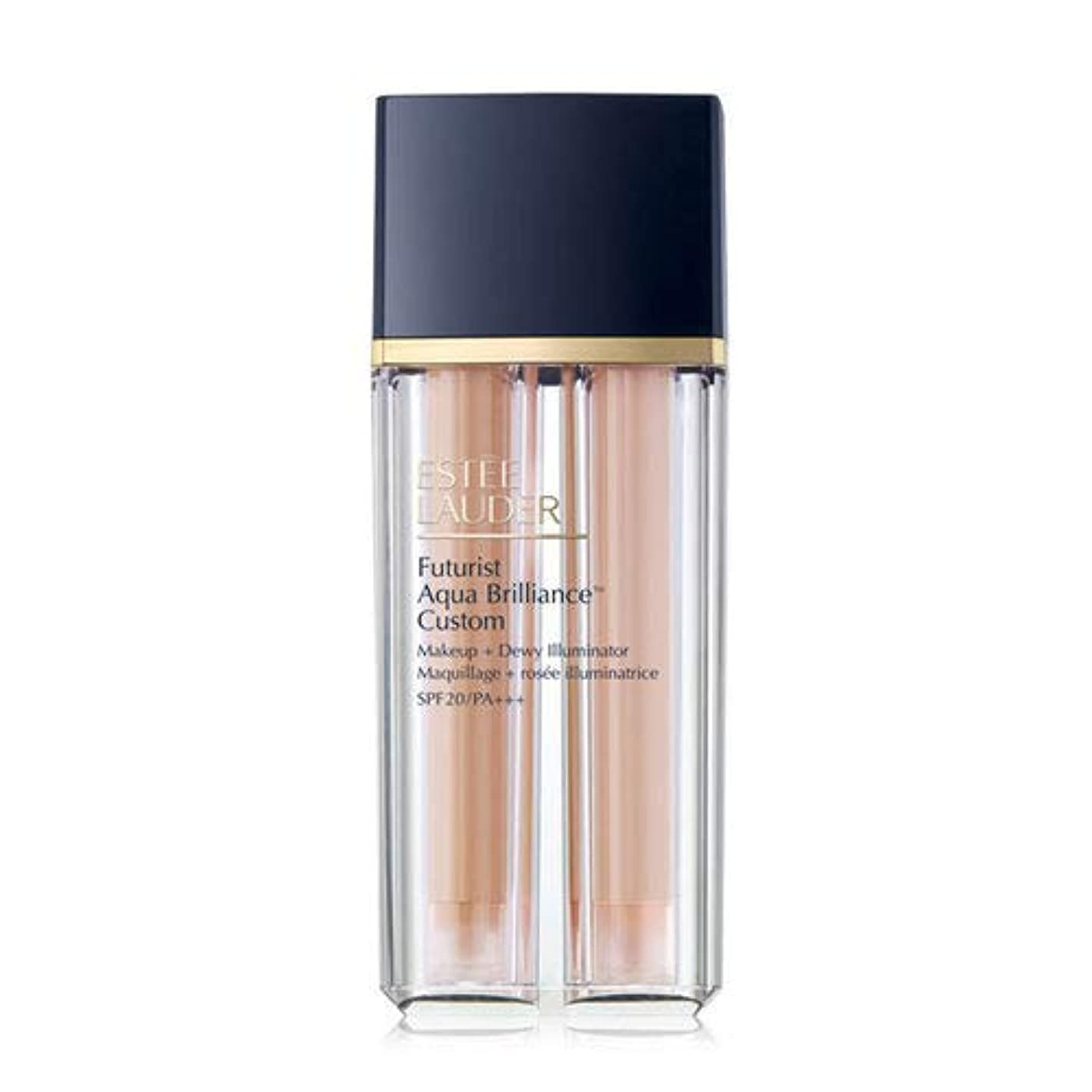 安らぎ衣類専門知識Estee Lauder(エスティローダー) Futurist Aqua Brilliance Custom Foundation & Illuminator Duo SPF20/PA+++ 15ml ×2EA #1C1 Cool Bone