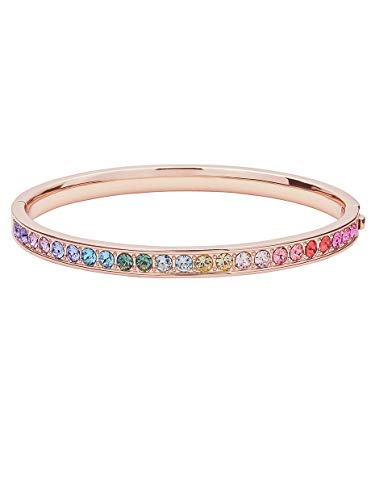 Ted Baker Clemara Crystal Hinge Bangle Rose Gold Tone/Rainbow Pastels
