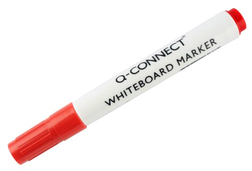 Q-Connect - Pack de 10 Rotuladores Pizarra Blanca, Color Roj