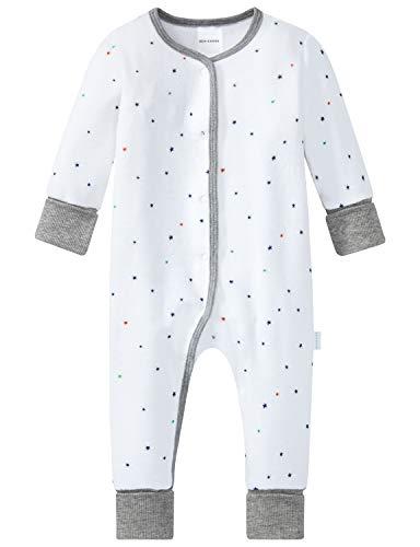 Schiesser Unisex Baby Anzug mit Vario Zweiteiliger Schlafanzug, Weiß (Weiss 100), 62 (Herstellergröße: 062)