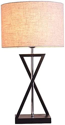 Rnwen Moderno, Estilo Europeo, minimalismo, lámpara de Mesa LED Hecha a Mano, luz de Noche LED en Forma de X, Cuerpo de lámpara de Hierro Hecho a Mano, Regalo, cabecera, día de San Valentín, Blanco