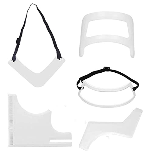 Barbe outils de façonnage Modèle Hairline Lineup Shaper toilettage Kit Décolleté rasage modèle Guide bricolage Trimmer modèle pour les outils Homme 5PCS Beauté