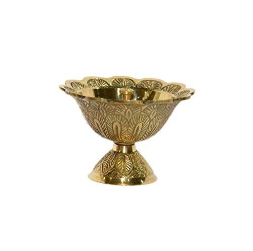 Aatm Decorative and Attractive Brass Embossed Designer Akhand Diya/Decorative Diya