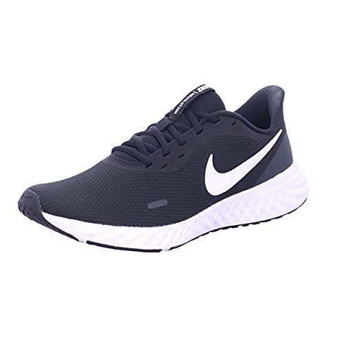Nike Revolution 5 Męskie Buty do Lekkoatletyki, Czarny/Biały, 41 EU
