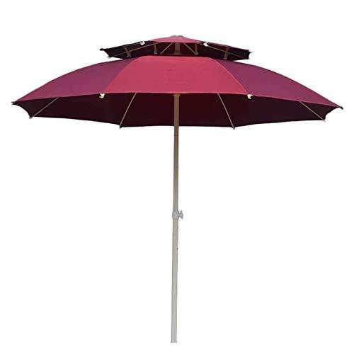 LYYJIAJU Parasol para terrazas y jardines de doble capa: paraguas de mercado con ascensor de crank para exteriores, para borde de piscina, césped y jardín sin base