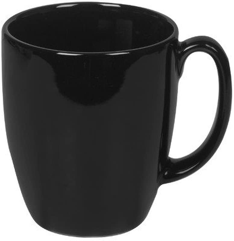 Corelle Livingware 11 Oz Stoneware Mug Set Of 4 Color Black